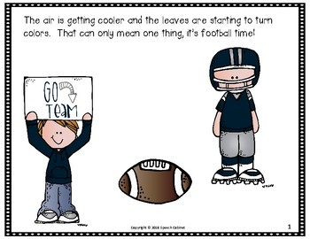 It's Football Time!  An Interactive Story