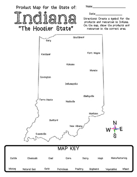It's From Indiana - A Mini Social Studies Unit about Products and Resources