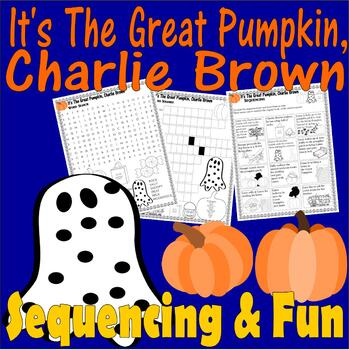 It's Great Pumpkin Charlie Brown Halloween : Word Search & Scene Sequencing Fun