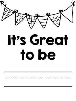 It's Great to Be... Class Book