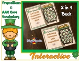 St. Patrick's AAC CORE Vocabulary & Prepositions Interactive Book (2 in 1)