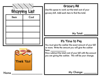 It's Grocery Shopping Day! Adding and Subtracting Money Part 3