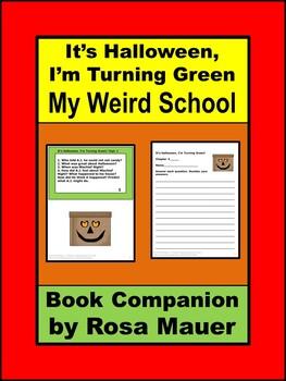 It's Halloween, I'm Turning Green Book Unit