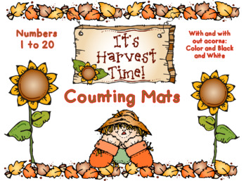 It's Harvest Time Counting Mats