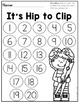 Number Recognition: Numbers to 20 {It's Hip to Clip}
