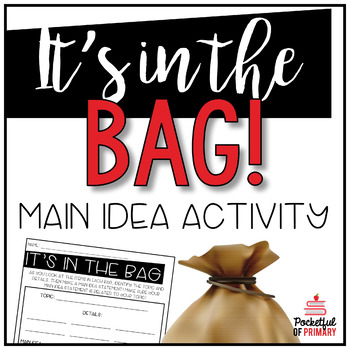 It's In The Bag | Main Idea Activity FREEBIE