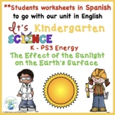 Kindergarten Science Effects of the Sun on Earth in Spanish