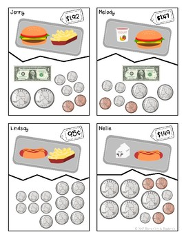 It's Lunch Time! - Counting Money Match Game