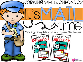 It's Mail Time {A Working With Sentences Center}