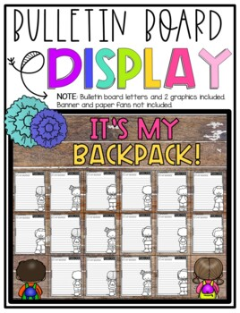 It's My Backpack! Design & Describe Step-Up Paragraph Packet