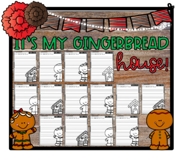 It's My Gingerbread House! Design & Describe Step-Up Paragraph Packet