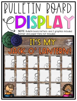 It's My Jack o' Lantern!  Design & Describe Step-Up Paragraph Packet