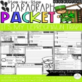 It's My Leprechaun Trap!  Design & Describe Step-Up Paragraph Packet