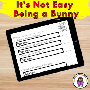It's Not Easy Being A Bunny :  Literacy Fun Pack to go with Marilyn Sadler Book