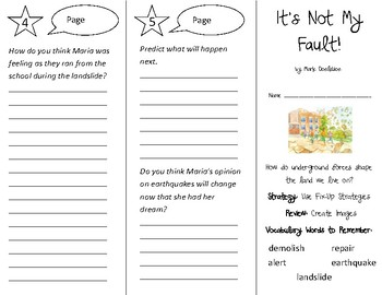 It's Not My Fault! Trifold - 3rd Grade Literacy by Design Theme 7