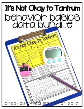It's Not Okay to Tantrum- Behavior Basics Data Bundle