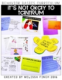 It's Not Okay to Tantrum- Behavior Basics Program for Special Education