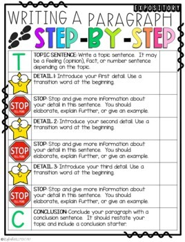 It's November! Step-Up Paragraph Packets