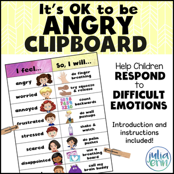 It's OK to be Angry Clipboard