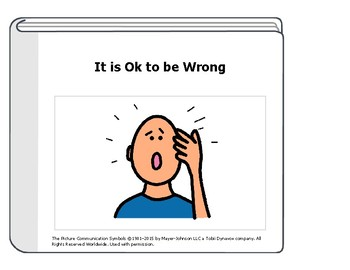 It's OK to be Wrong Social Story