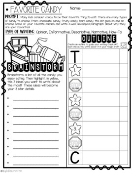 It's October! Step-Up Paragraph Packets