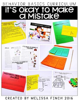 It's Okay To Make a Mistake- Behavior Basics Program for Special Education