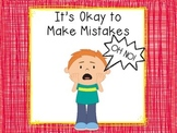 It's Okay to Make Mistakes Social Story