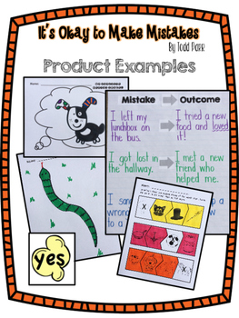 It's Okay to Make Mistakes by Todd Parr Kdg Book Study *Good for Back to School