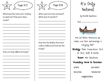 It's Only Natural Trifold - 4th Grade Literacy by Design Theme 9