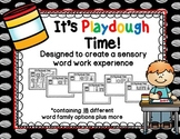 It's Playdough Time! - a sensory word work experience