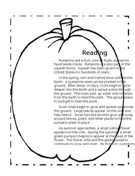 It's Pumpkin Day- A Cross-Curricular Packet