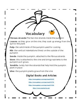 It's Pumpkin Day- A Cross-Curricular Packet