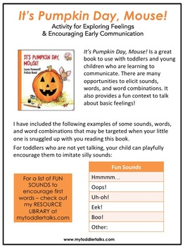 It's Pumpkin Day, Mouse! Book Companion for Toddlers