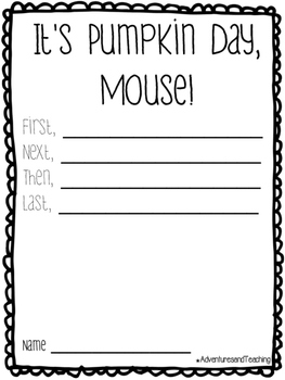 It's Pumpkin Day, Mouse! {Craftivity}