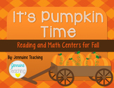 It's Pumpkin Time {Fall Reading and Math Centers}