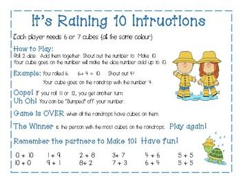 It's Raining 10 Math Game