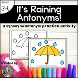It's Raining Antonyms--a synonym and antonym language activity!