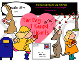 It's Raining Hearts Clipart Pack