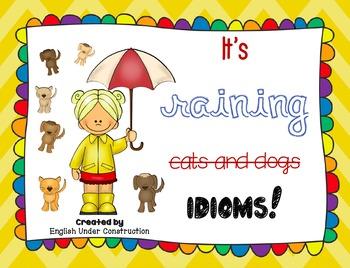It's Raining Idioms Posters
