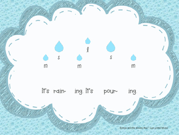 It's Raining, It's Pouring--Practicing ta titi & sol mi la w/ instruments