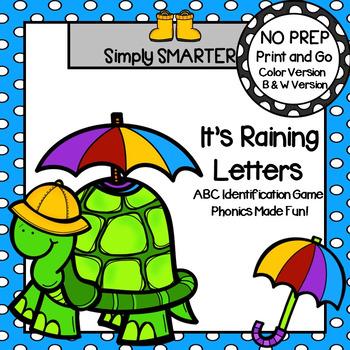 It's Raining Letters!:  NO PREP Letter Identification Game