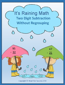 It's Raining Math (Two Digit Subtraction Without Regrouping)