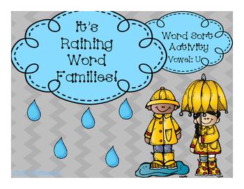 It's Raining Word Families- U