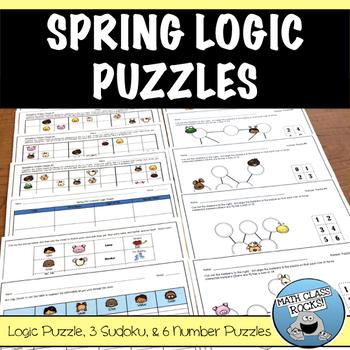 IT'S SPRING!!  CUT & PASTE LOGIC PUZZLES
