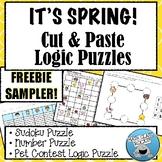 It's SPRING!!  Cut & Paste Logic Puzzles FREEBIE SAMPLER!!