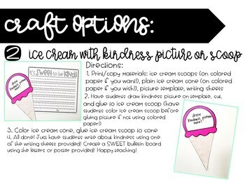 It's SWEET to be KIND! Ice Cream Kindness Craft and Writing Activity