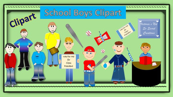 It's School Time Clipart! (Math, Students, Reading, ++)