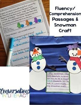 It's Snow Fun!  ELA Activities and Snowman Craft