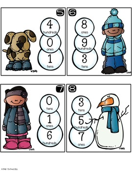 It's 'Snow Problem:  Place Value Practice (Get Up and GO!)
