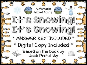It's Snowing! It's Snowing! (Jack Prelutsky) Book Study / Reading Comprehension